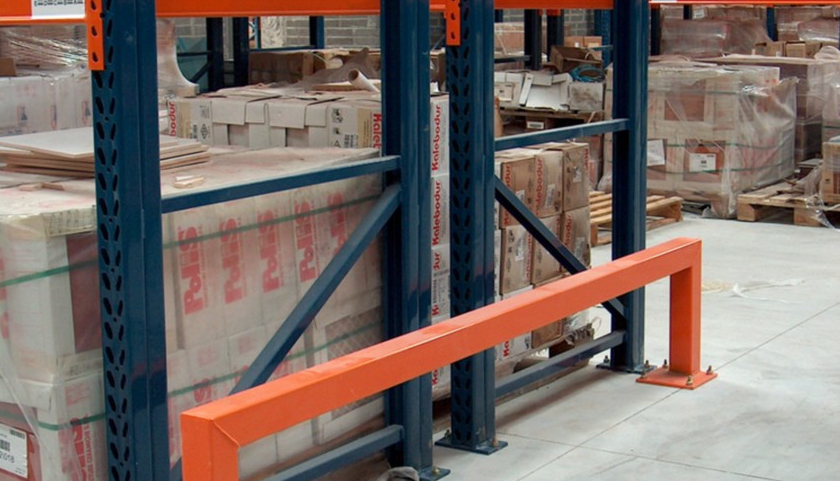 Close up of Warehouse Barrier Protection