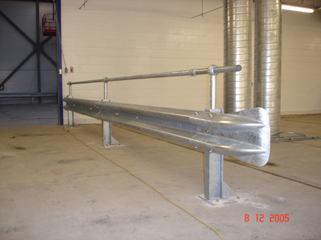 Armco Barrier With Handrail In Warehouse