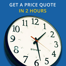 Receive a fully priced quote in 2 hours