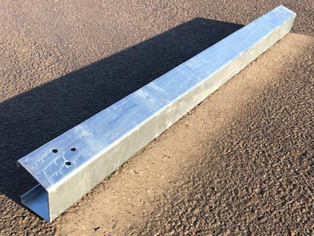 2.4m Open Box Beam 5mm thick galvanised